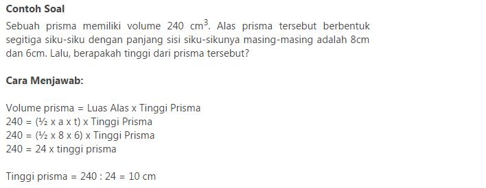 contoh soal matematika tentang prisma