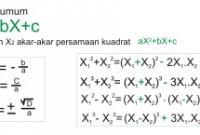cara menghitung rumus persamaan kuadrat matematika