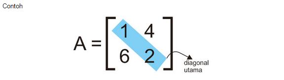 contoh macam matriks bujur sangkar