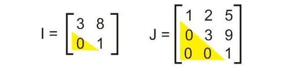contoh macam matriks segitiga atas