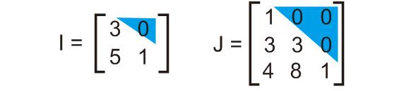 contoh macam matriks segitiga bawah