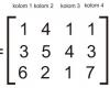 contoh menghitung rumus matriks matematika