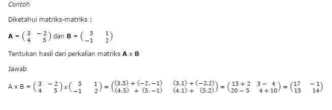 contoh soal perkalian matriks terlengkap
