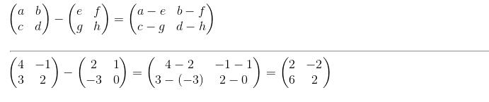 contoh soal rumus pengurangan matriks matematika
