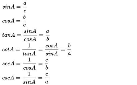 Rumus Trigonometri Dan Fungsi Trigonometri Matematika Rumus Rumus