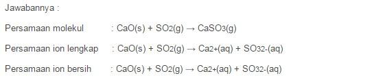 Contoh Soal Reaksi Antara Oksida Asam dengan Oksida Basa