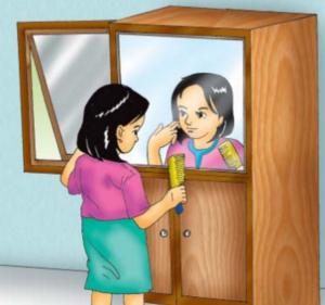 cermin datar