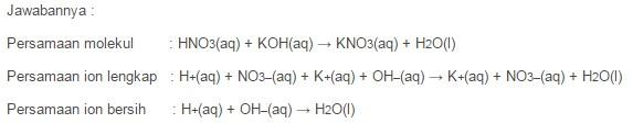 contoh reaksi asam dan basa antara asam dengan basa