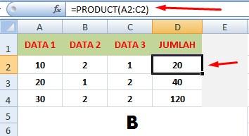 Rumus Excel Perkalian