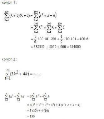 Pengertian Sifat Dan Rumus Notasi Sigma Matematika Rumus Rumus
