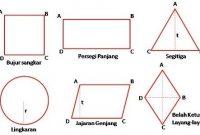 macam simetri bangun datar matematika lengkap