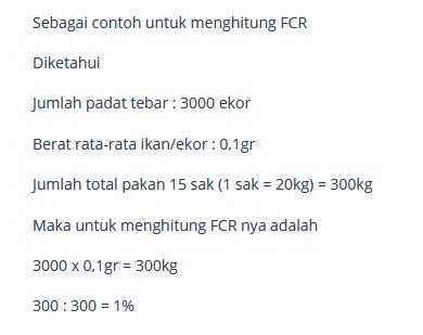 contoh soal FCR