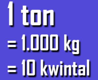 1 ton 1000kg