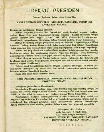 dekret presiden