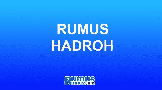 Rumus hadroh