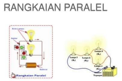 gambar rangkaian paralel pada lampu