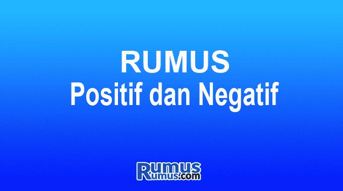 positif dan negatif