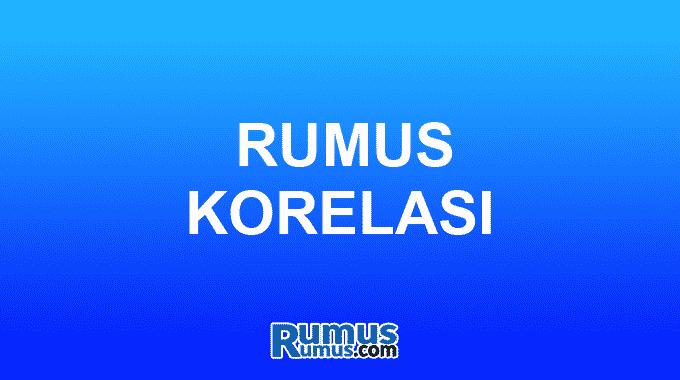 Rumus Korelasi
