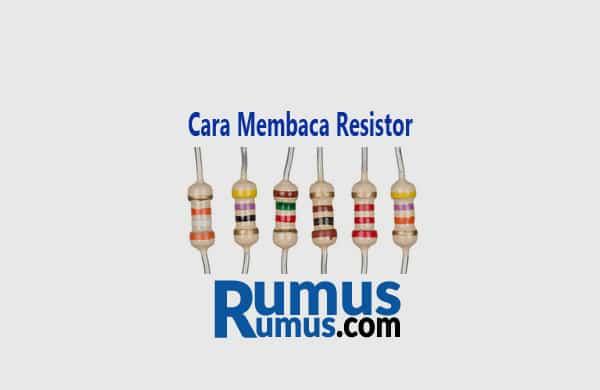 cara membaca resistor