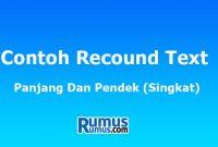 Contoh Recound Text