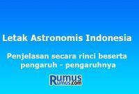 LLetak Astronomis Indonesia