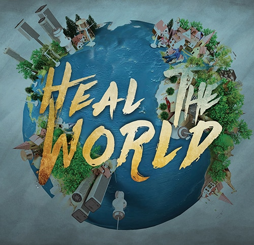 teks ulasan heal the world