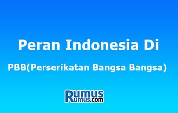 peran indonesia di pbb