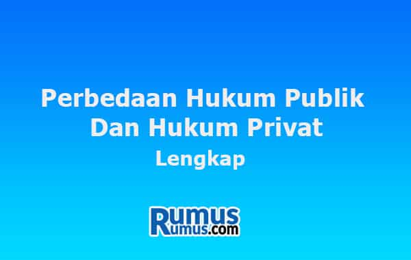 perbedaan hukum publik dan hukum privat