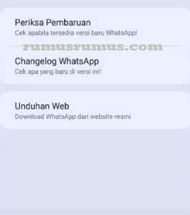 pembaruan 2 whatsapp aero