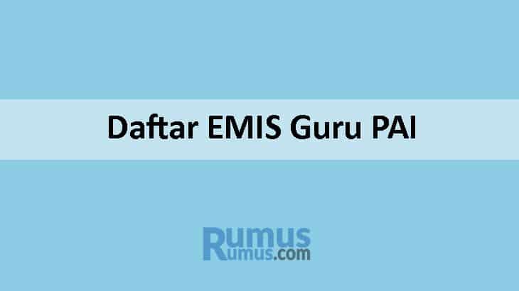 Cara Daftar EMIS Guru PAI